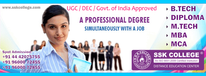 BTech Distance Education in india
